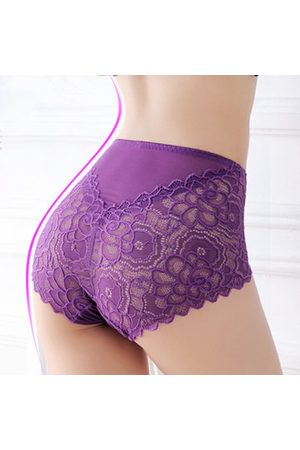 Newchic Women Bodies - Lace High Cut Body-shaping Seamless Embroidery Panties
