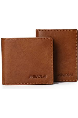Newchic Genuine Leather Vintage Bifold Wallet Card Pack For Men