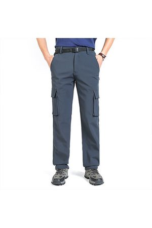 Newchic Men Cargo Pants - Mens Thicken Thermal Multi-pockets Cargo Pants