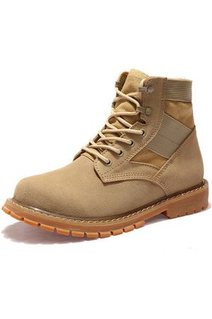 Newchic Large Size Men's Classic Nubuck Splicing Outdoor Work Boots