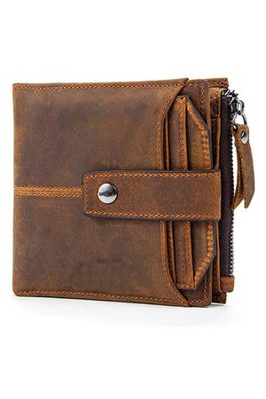 Newchic Genuine Leather 12 Card Slots Vintage Bifold Wallet For Men