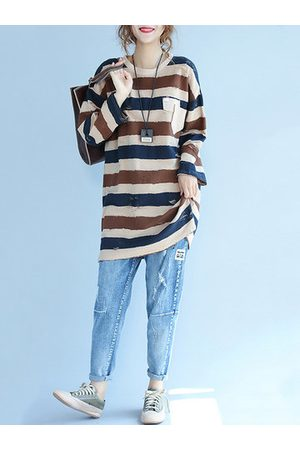 Newchic Casual Loose Striped T-Shirts