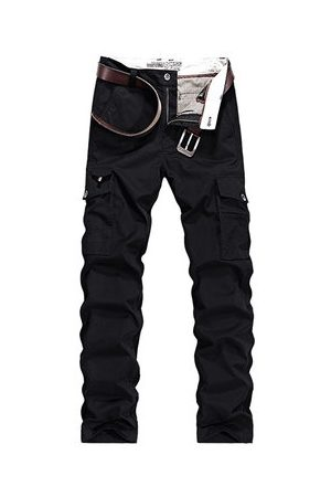 Newchic Mens Multi-pocket 100% Cotton Casual Cargo Pants