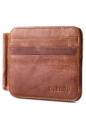 Newchic Genuine Leather Vintage 12 Card Slots Bifold Wallet For Men