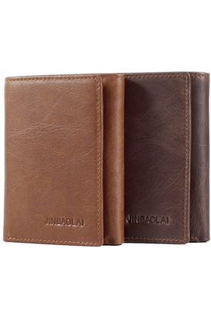 Newchic Genuine Leather Vintage Trifold Wallet For Men