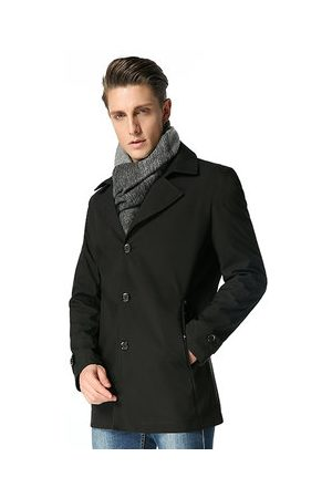 Newchic Business Casual Trench Coat Single Breasted Jacket for Men