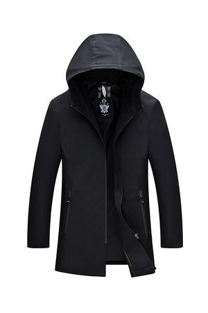 Newchic Casual Business Trench Coat Hooded Jacket for Men
