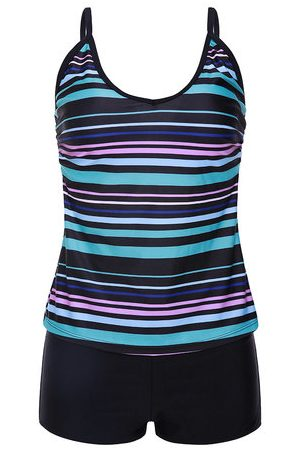 Newchic Striped Quick-dry Stretchy Tankinis
