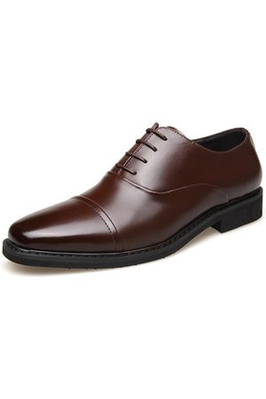 Newchic Men's Classic Cap Toe Leather Business Formal Shoes