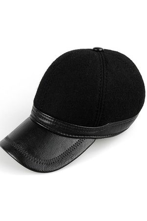 Newchic PU Woolen Baseball Cap With Ears Flaps