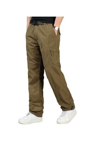 Newchic Soft Shell Warm Fleece Soild Color Cargo Pants for Mens