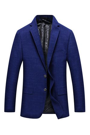 Newchic Slim Fit Business Casual Lapel Collar Chest Pocket Suit