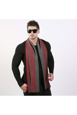 Newchic Business Warm Stripe Scarves For Men