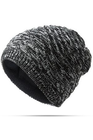 Newchic Mens Women Twill Knitted Both Sides Wear Beanies Hat