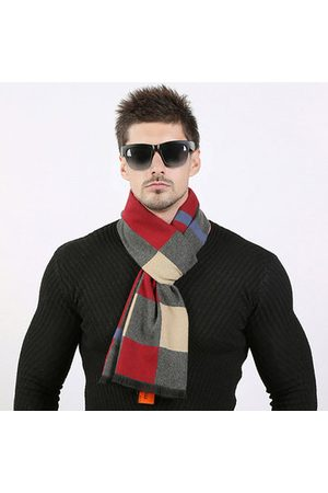Newchic Men's Brushed Lattice Luxury Business Casual Scarf