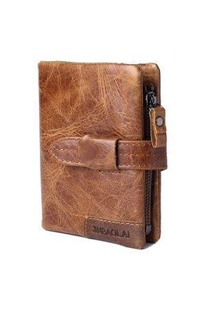 Newchic Genuine Leather Trifold Wallet For Men