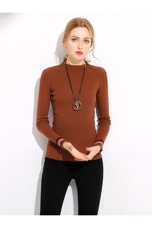 Newchic Casual O-neck Striped Long Sleeves Shirts