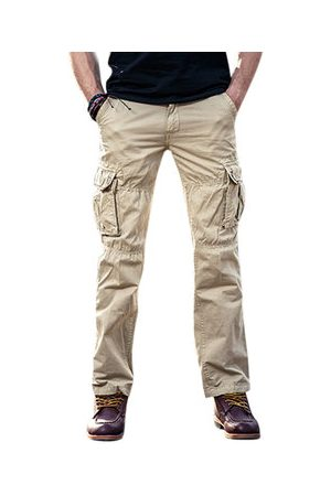 Newchic Mens Cotton Cargo Pants Outdoor Trousers with Muti-Pockets
