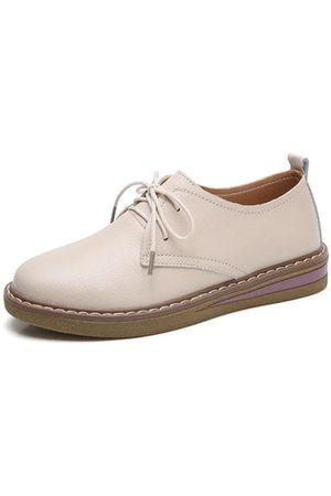 Newchic Lace Up British Style Casual Shoes