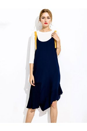 Newchic Women Casual Dresses - Irregular Hem Fake Two-Piece Dress