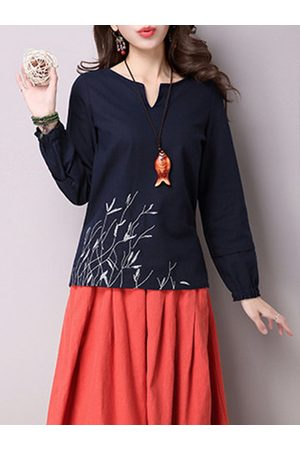 Newchic Embroidered Tie Back Women T-shirts