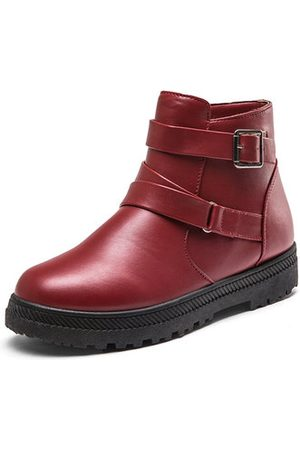 Newchic Large Size Buckle Boots
