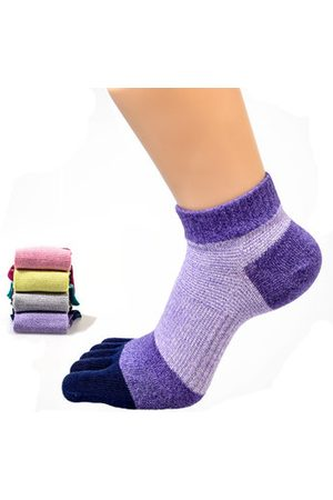 Newchic Women Sports Breathable Cotton Five Toe Socks