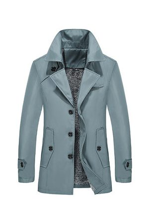 Newchic Winter Warm Thick Business Casual Trench Coat