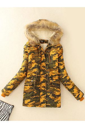 Newchic Camouflage Printed Hooded Winter Coats