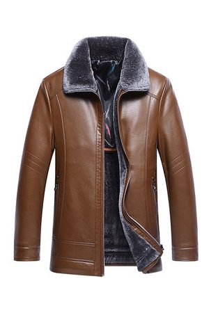Newchic Men Leather Jackets - Mens PU Leather Jackets