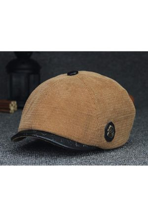 Newchic Men Caps - Corduroy Pure Color Fashion Windproof Warm Beret Cap