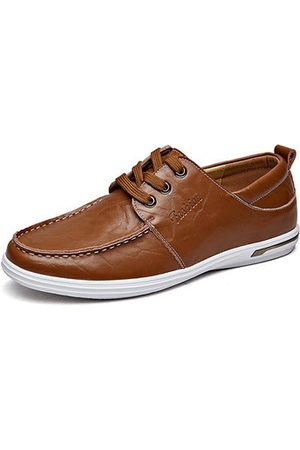 Newchic Men Casual Shoes - Men's Leather Oxfords Lace Up Casual Shoes