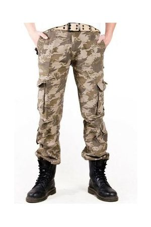 Newchic Men Cargo Pants - 100% Cotton Multi-Pocket Outdoor Camouflage Cargo Pants