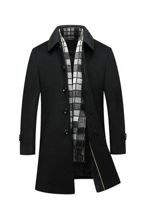 Newchic Winter Mesn Woolen Trench Coats