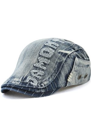 Newchic Washed Demin Sunshade Berets Hat For Men