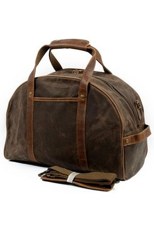 Newchic Ekphero Vintage Waterproof Canvas With Leather Luggage Bag