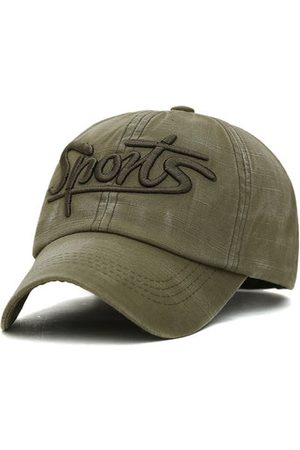 Newchic Men Caps - Washed Cotton Sports Letter Cotton Baseball Caps