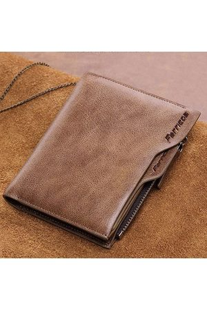 Newchic Men Genuine Leather 10 Card Slots Two Fold Wallet