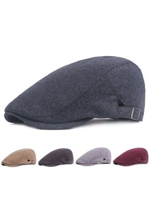 Newchic Men Hats - Vintage Cotton Solid Beret Hat For Men