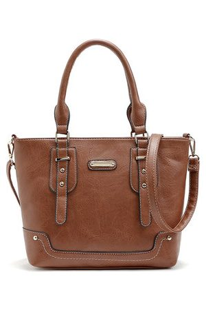 Newchic PU Solid Messenger Bags