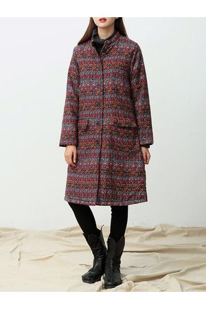 Newchic Floral Printed Thicken Winter Coats