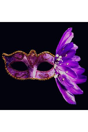 Newchic Masquerade Halloween Feathers Painted Masks