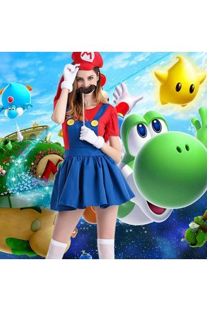Newchic Women Bathrobes - Halloween Mario Anime Game Cosplay Costumes