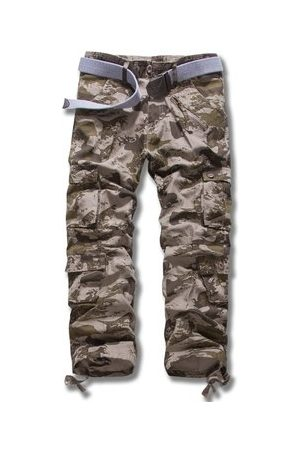 Newchic Mens Cotton Loose Fashion Casual Trousers Cargo Pants