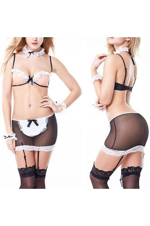 Newchic Sexy Open Cup Maid Uniform Lingerie