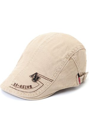 Newchic Men's Cotton Embroidery Adjustable Beret Cap