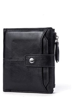 Newchic Vintage Genuine Leather Short Card Slots Wallet