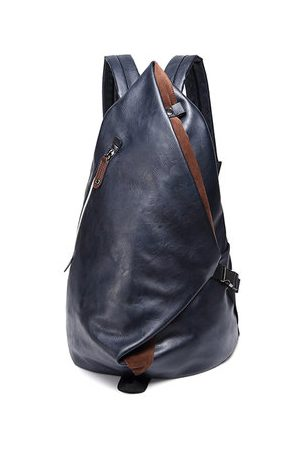 Newchic Large Capacity PU Leather Backpack For Men