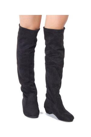 Newchic Women Casual Flat Over The Knee Stretchy Boots