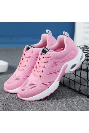 Newchic Breathable Mesh Lace Up Running Shoes